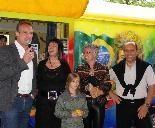 BM Markus Linhart, Ines Hergowitz Gasser (ORF), Chefin Susanne Fessler, STR Michael Rauth bei der Eröffnung