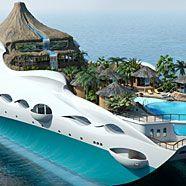 Neue Super-Yacht im Insel-Design