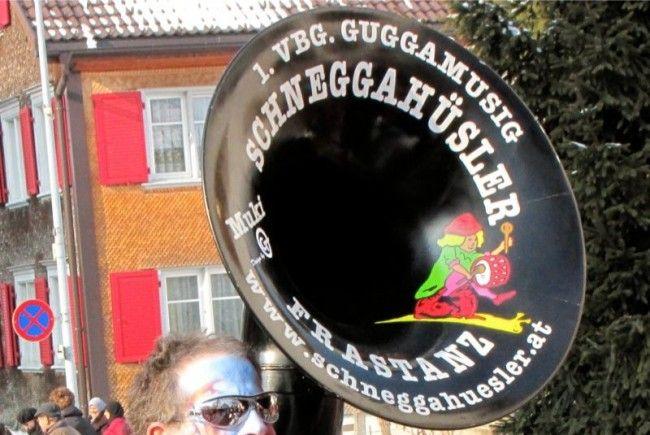 """Die Guggamusik """"Schneggahüsler"""" wird die Faschingszeit in Frastanz einläuten"""