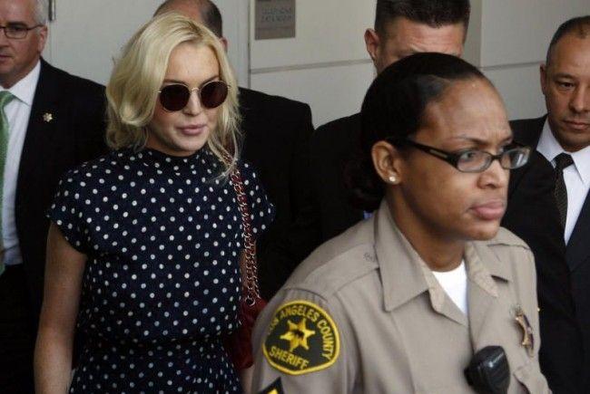 Lindsay Lohan ist wieder auf freiem Fuß.