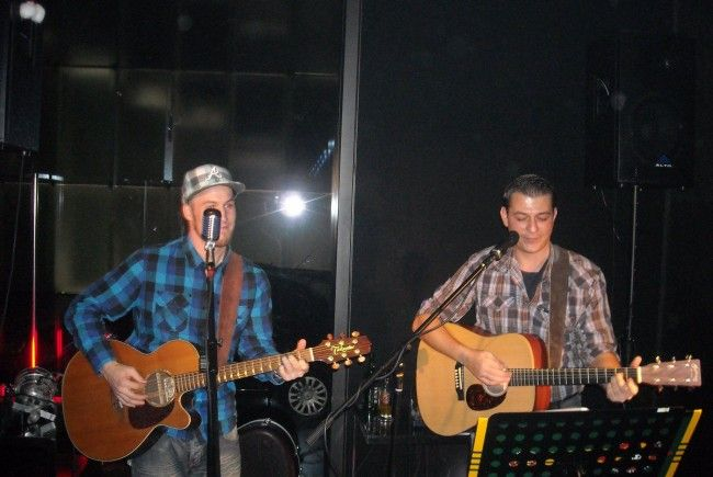 Chello und Miggi im KUB-Cafe