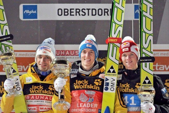 Schlierenzauer, Kofler, Morgenstern auf Kurs für 4. Tournee-Sieg in Serie.