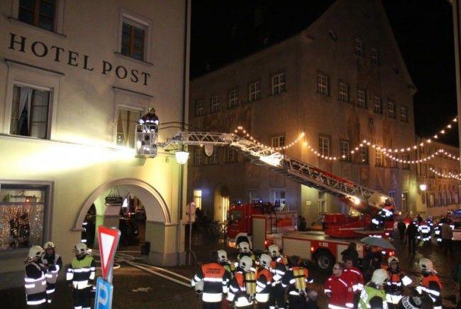 Großeinsatz für die Feuerwehren in Feldkirch