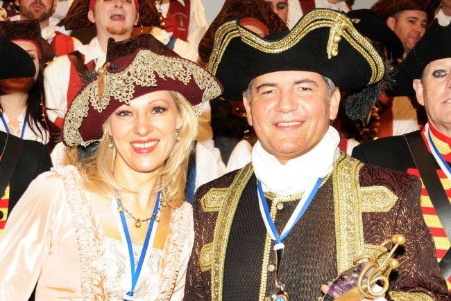 Das Bregenzer Prinzenpaar: Prinz Ore LVI., Martin I. und Prinzessin Daniela I.