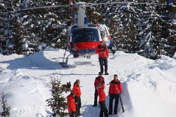 Hubschraubereinsatz in Lech.