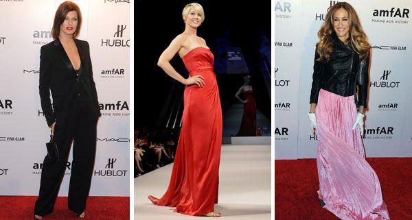 Linda Evangelista, Jenna Elfman und Sarah J. Parker sind in NY mit dabei.