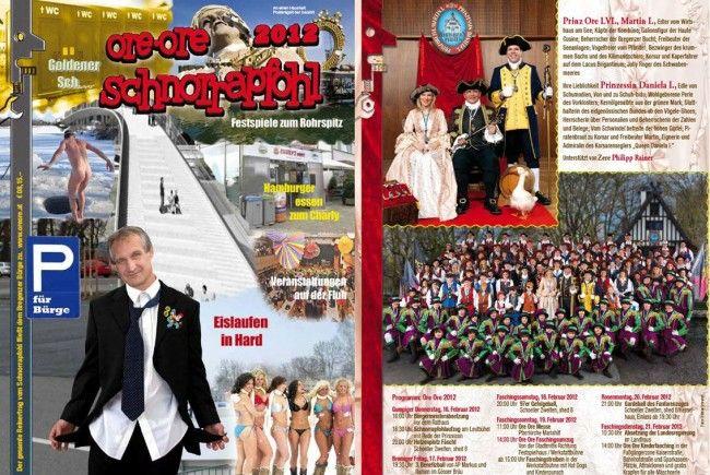 Cover der neuen Bregenzer Fasnachtszeitung.