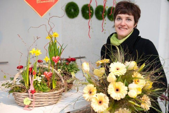 Auch nach 30 Jahren als Floristin freut sich Marietta Sprenger über rote Rosen zum Valentinstag.
