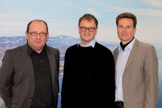 v.l.n.r.: Roland Murauer (CIMA), Dr. Gerhard Schwärzler (Wirtschaftsstadtrat), Eric Thiel (Geschäftsführer des Bregenzer Stadtmarketings)