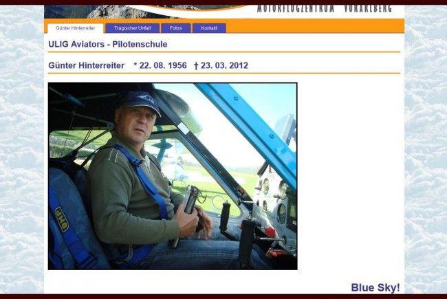 Günter Hinterreiter war Vorstandsmitglied der Ultraleichtflugzeug Interessengemeinschaft (UIG).