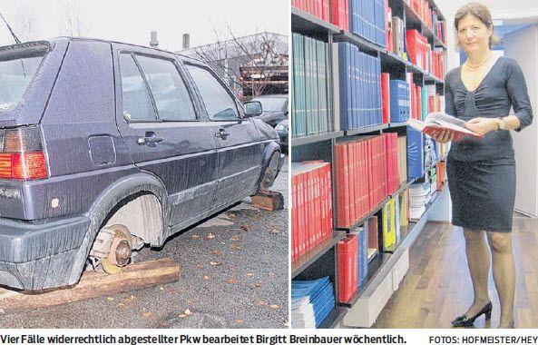 Illegale Pkw-Entsorgung auf privaten Parkplätzen