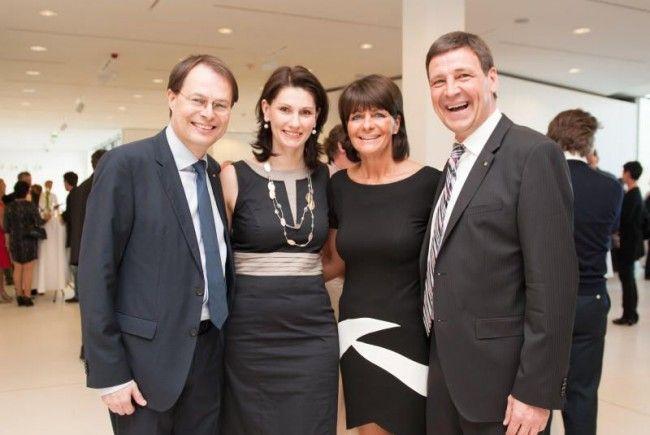 Festredner Gerhard Drexel (l.) mit Gattin Andrea sowie Gastgeber und Spar-Vorarlberg-Geschäftsführer Gerhard Ritter mit seiner Frau Elke.
