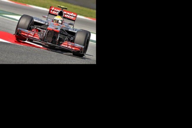 Hamilton auf Pole Position.