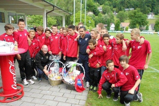 Zum Saisonabschluss feierte die U-14-Landesauswahl einen 3:1-Heimsieg gegen Burgenland.