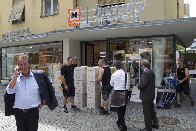 Müller-Store in Dornbirn wurde zwangsgeräumt.