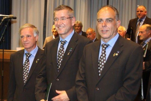 v.l.nach rechts Gerhard Hämmerle, Günter Ziesig, Günter Bitschnau