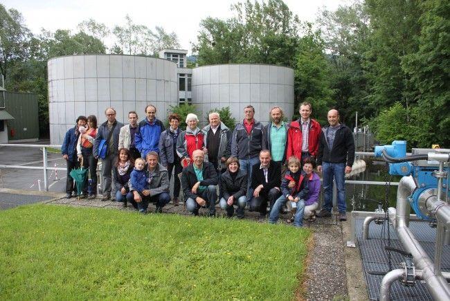 Interessierte Leiblachtaler ließen sich umfassend über die örtliche Abwasserreinigungsanlage informieren.