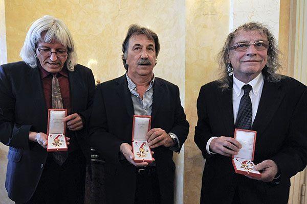 Beim der Verleihung des Goldenen Ehrenzeichens zeigten sich STS sprachlos und dankbar