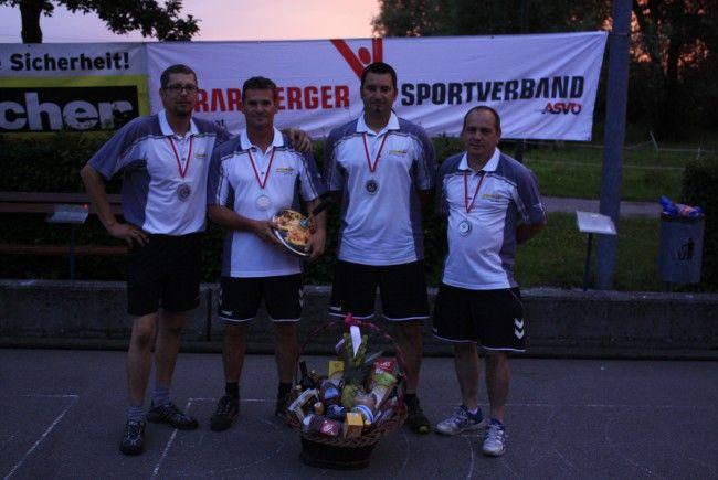 Die Landesmeister: v.l.n.r.: Wolfgang Gorbach,Harald Rüscher, Robert Pienz, Hannes Tscherner