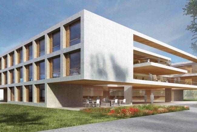 Das Siegerprojekt der Architekten Dorner / Matt für das Pflegeheim Höchst Fußach