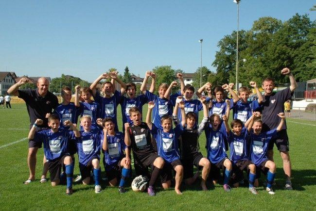 Die U-13-Auswahl Vorarlbergs wurde in Winterthur ausgezeichneter Dritter.