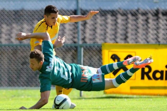Marco Miesenböck schoss das 2:0 für Austria Lustenau.