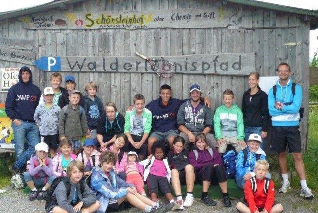 Die CampteilnehmerInnen erlebten eine Woche voller Fun und Action!