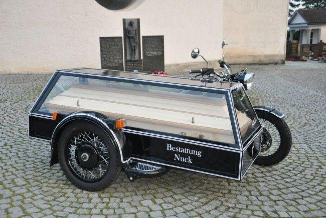 Erstes Bestattungsmotorrad Vorarlbergs