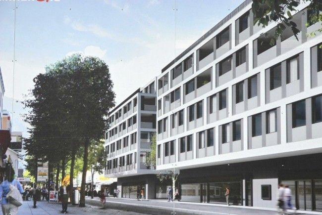 Zwei fünfstöckige Baukörper sollen bis im kommenden Jahr die Buchser Bahnhofstraße prägen