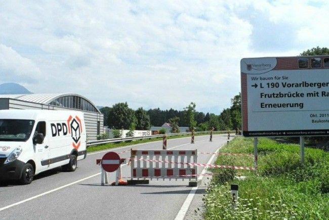 Die Bundesstraße 190 von Röthis nach Rankweil ist für den gesamten Verkehr gesperrt. In Richtung Rankweil-Bregenz ist sie uneingeschränkt befahrbar