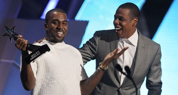 "Jay-Z und Kanye West bei den ""BET Awards"" 2012."