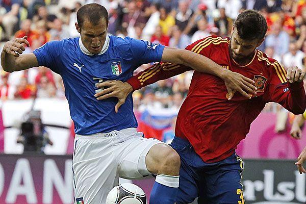 In der Vorrunde endete das Duell Spanien gegen Italien mit einem 1:1.