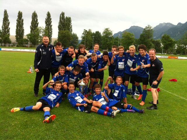 Die AKA Vorarlberg U-15-Elf gewann das Turnier in Götzis.