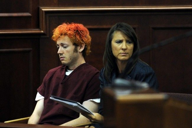 Amokläufer James Holmes vor dem Richter.