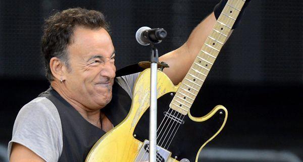 Bruce Springsteen in seinem Element, beim Rocken.