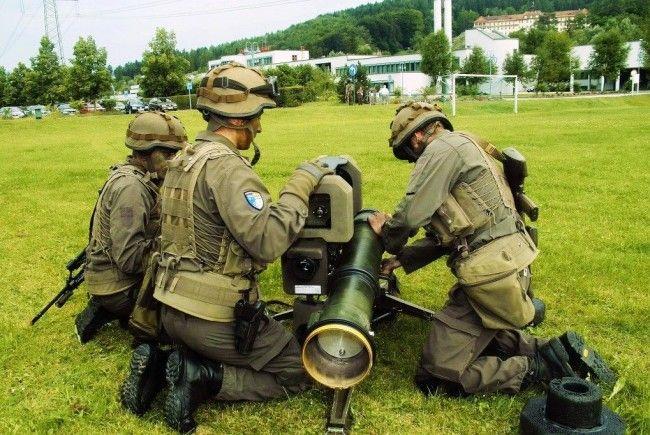 Üben für den Ernstfall: Milizeinheiten des Jägerbataillon Vorarlberg.