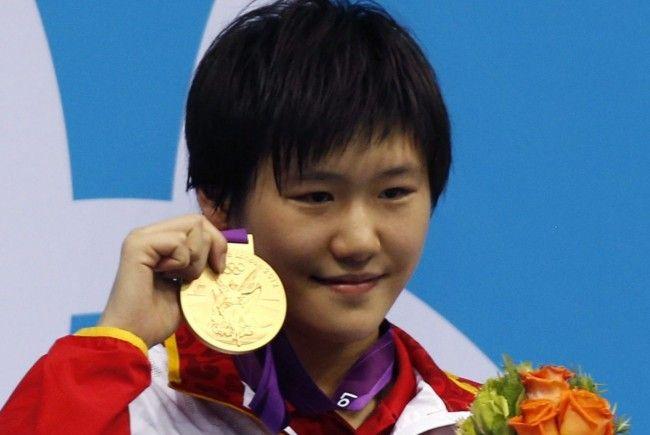Strahlende Siegerin Ye Shiwen.