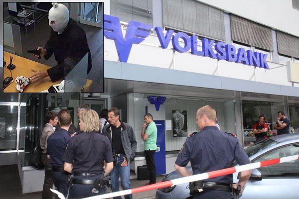 Volksbank-Filiale auf der Bregenzer Rheinstraße überfallen - Bewaffneter Täter flüchtig.