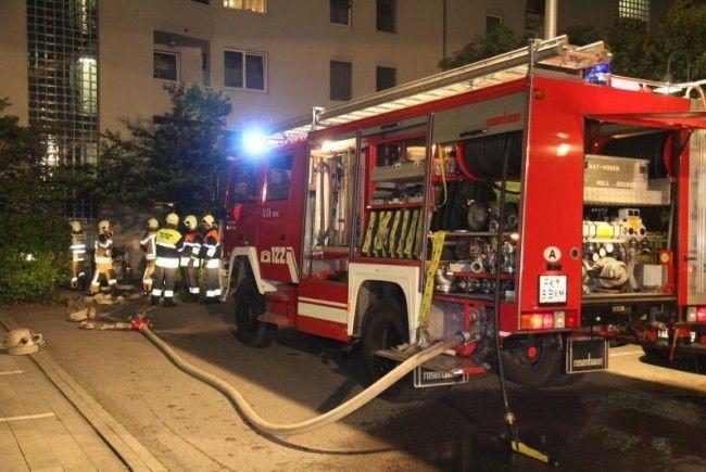 Großeinsatz der Feuerwehr in Feldkirch am Mittwoch Abend.