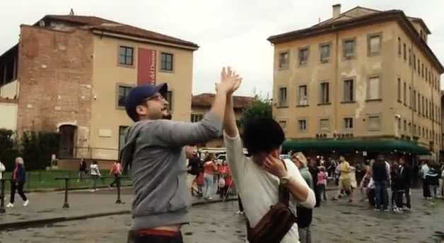 In Pisa gibts jede Menge High-Five zu holen.