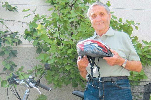 Helmut Thurnher hatte Glück bei seinem Fahrradsturz.