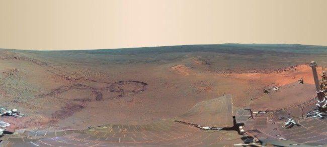 """Rover """"Opportunity"""" machte vier Monate Bilder vom Roten Planeten. Daraus entstand ein faszinierendes Panorama."""