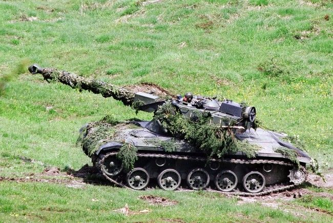 Panzerunfall auf Truppenübungsplatz in Allentsteig in Niederösterreich