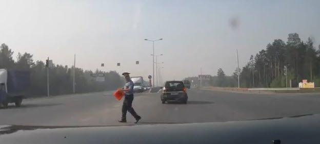 So schnell war die Polizei wohl noch nie am Unfallort.