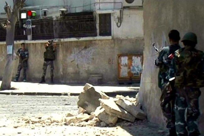 Aktivisten meldeten Gefechte in mehreren Stadtteilen von Damaskus, vor allem im Süden der Stadt.