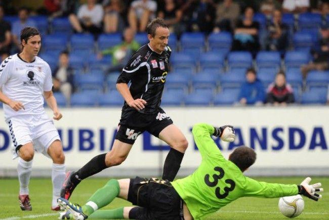 Hannes Aigner erzielte den einzigen Altacher Treffer im Test gegen FC Dornbirn.