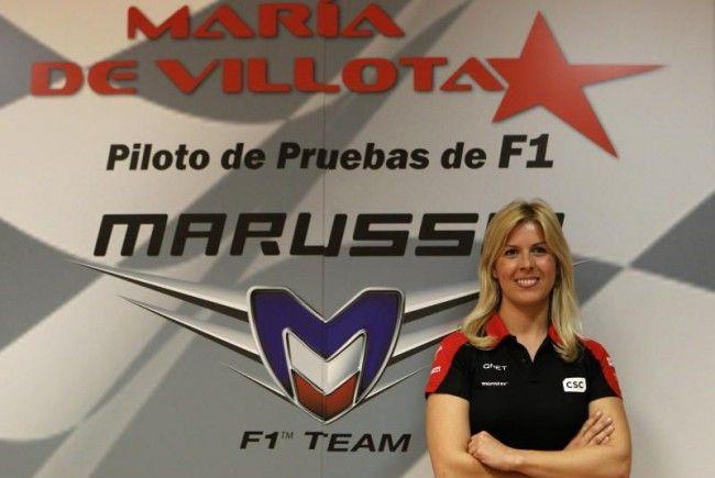 Für die seit März beim Nachzüglerteam der Formel 1 engagierte De Villota war es der erste Test im Marussia-Boliden.