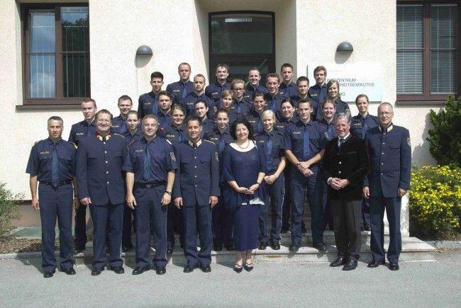 Die diesjährigen Absolventen des Polizeigrundausbildungslehrgang