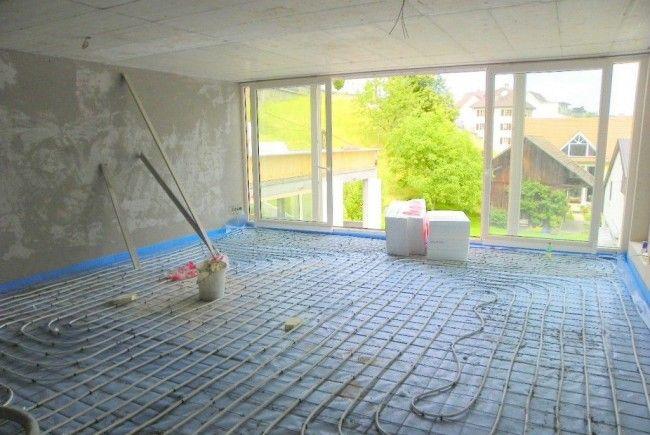 Fußbodenheizung bei Gebäudesanierung