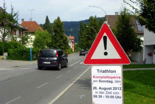 Triathlon – Straßensperre